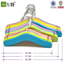 High Quality Colorful Baby Clothes Wooden Hangers