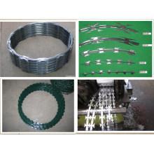 PVC-beschichteter glasierter Eisen-Rasiermesser Stacheldraht