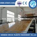 Pedra plástico PVC perfis de linha de máquina extrusora de mármore falso