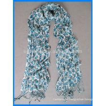 Lady fashion viscose flower print scarf