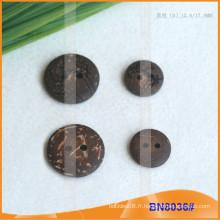 Boutons de noix de coco naturels pour le vêtement BN8036