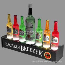 Custom Wine Store Advertising Acrylic Table Top 7 Bottles Led Illuminated Bottle Beer Display Stand