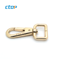 Wholesale high quality metal buckle rose gold metal hook for bag handbag hook bag accessory and hooks