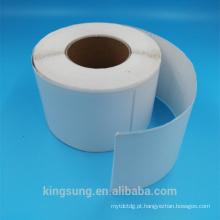 Adesivo de papel térmico em branco autoadesivo no rolo