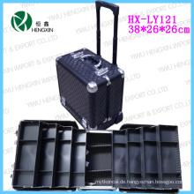 Black Panel und Frame Aluminium Kosmetiktasche (HX-L0928)
