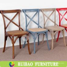 Hot Sell Rattan de estilo popular reciclado com cadeiras de madeira de jantar