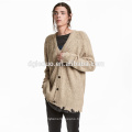 New design casual oversized cardigan sweater for men