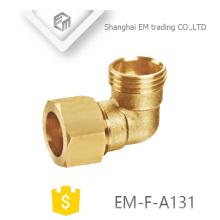 ЭМ-Ф-A131 наружная резьба латунь быстрый разъем трубы локтя сторона