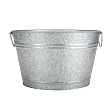 Round Metal Beer Ice Buckets With Handle