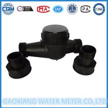Medidor de água de nylon de 2 polegadas com conexão de rosca