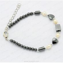 pulsera de perlas hematites para weman