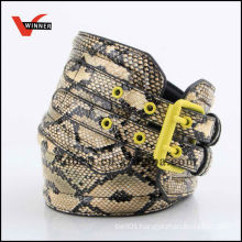 Fake Snake Skin Pattern PU Belts