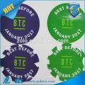 Etiqueta de uso personalizado y material de vinilo lolgo etiqueta de la etiqueta vinilo etiqueta de la etiqueta de impresión adhesiva