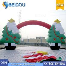 Venta al por mayor Ornamentos de Navidad Decoraciones de árboles Publicidad Arco de Navidad Inflables