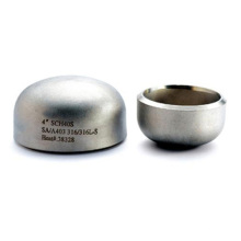 Lowest Price of Pickled Sanitary Stainless Steel Welded End Caps for Pipe Fittings