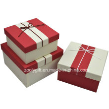 Quality Textured Art Paper Gift Box / Pop up Handmade Square Paper Gift Packing Box
