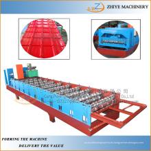 Cubiertas de metal chapa de acero galvanizado de chapa que hace la máquina / perfil de techo máquina de formación en frío