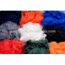1.2D * 38MM polyester polyester coloré à base de fibres couleur noir foncé