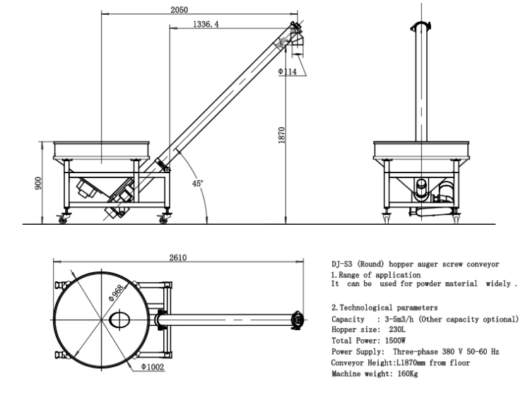 automatic screw feeder machine conveyor