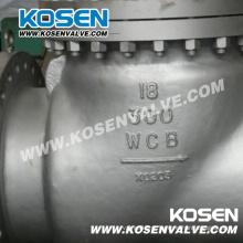 Válvula de retenção completa do aço de molde do API 6D aberto (H44)