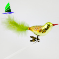 Venda quente barato Handmade Bird Glass Christmas Ornaments