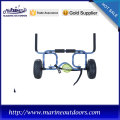 Aluminum canoe and kayak carrier, Surfboard cart for boat, Beach hand trolley