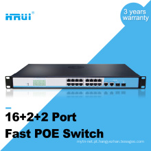 OEM 100M 2 gigabit porta combo 16 portas poe switch