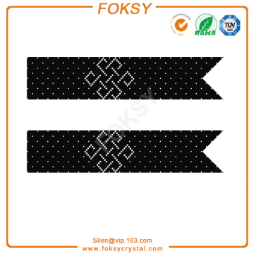 Chinese knot hotfix rhinestone transfer for cheer bows