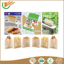 Sac en grille de fibre de PTFE Sac à grille PTFE réutilisable sandwich facile