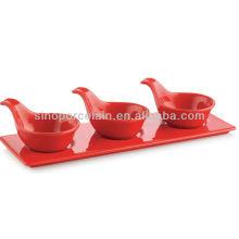 Tapas cerâmicas de cor vermelha com base para BS12092B