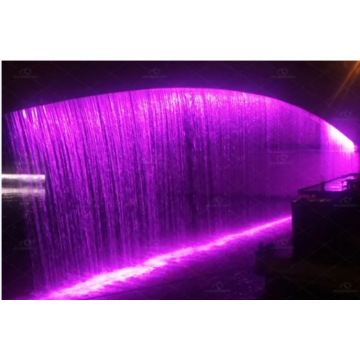 Cortina d'acqua digitale con luce a LED