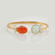 Handmade Latest Design Daily Wear Chalcedony Gemstone Bangle For Birthday Gift