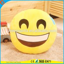 Diseño de novedad de alta calidad Smily Emoji Emoticon expresión facial almohada de felpa