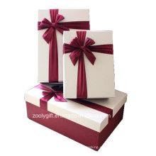 Качество Текстурированное искусство бумаги Цвет Подходящие подарочные коробки с лентой Украшение