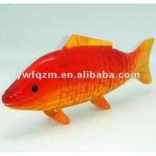 Holz Tier Dekoration Fisch