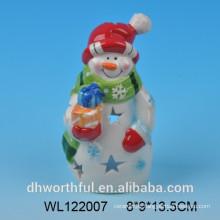 2016 handpainted ceramic snowman figurine