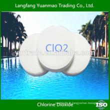 Comprimé de dioxyde de chlore, traitement des aliments et aquaculture, piscine,