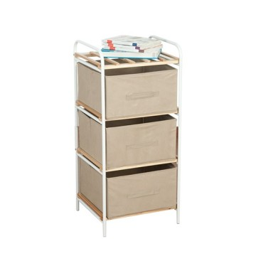 Wooden 3 Drawers Storage Wooden Rack