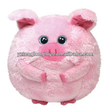Promotion! lovely fat pig plush ball toy in animal style