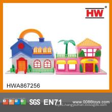 Hot Sale Plastic Pretend Play Villa Set Indoor Children Toy