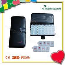 PU Wallet 7 Tage Plastik Pille Box