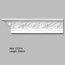 Moldura de coroa decorativa com desenho de roseta