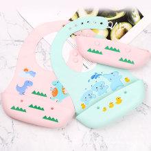 Wholesale High Quality Custom Organic Animal Sublimation Bandana Waterproof Silicone Baby Bib