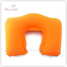 Promotional PVC Flocking Inflatable Neck Air Pillow 44X28cm