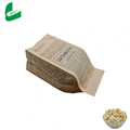 Kraft Fast Food Emballage scellable Sac en papier pop-corn pour micro-ondes