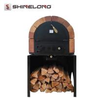 Restaurant Insulated Brick Indoor/Outdoor Wood burning pizza oven