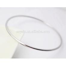 Простые пустые браслеты из тонкой манжеты из нержавеющей стали Браслет для женщин и мужчин