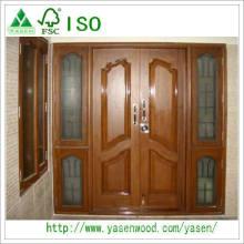 European Solid Teak Wood Entrance Door Design