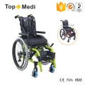 Equipamento médico Cadeira de rodas infantil manual de alumínio para pessoas com deficiência