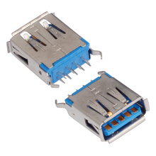 Af Female Type 180 Degree 9pin USB 3.0 Connector